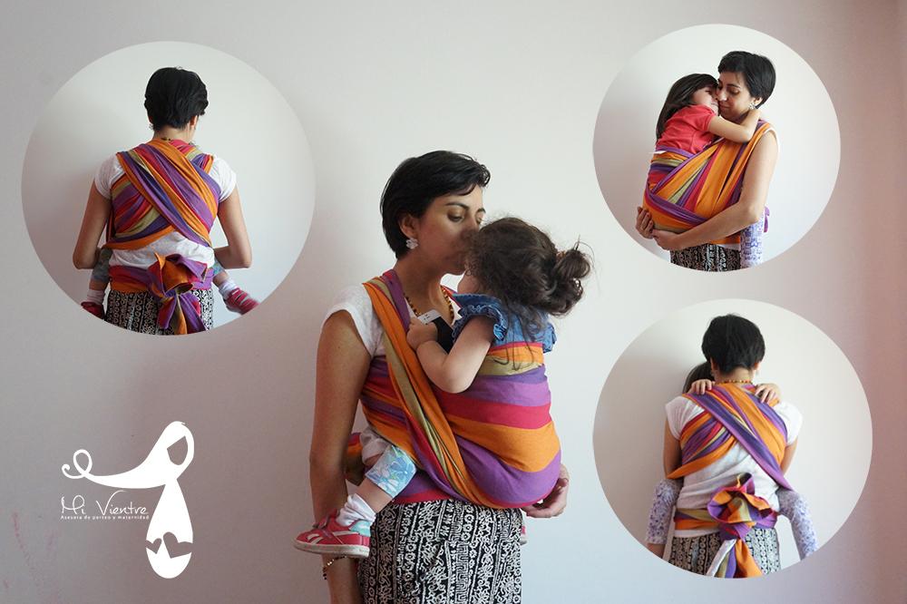 Como puedes observar se puede hacer con distintos tipos de fulares y tamaño y edad de tu bebé, teniendo siempre presente que si el bebé es muy grande y